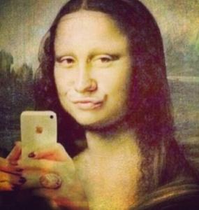 Mona Lisa Smiley Face.